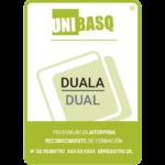 Logotipo de Dual Unibasq. Reconocimiento de formación